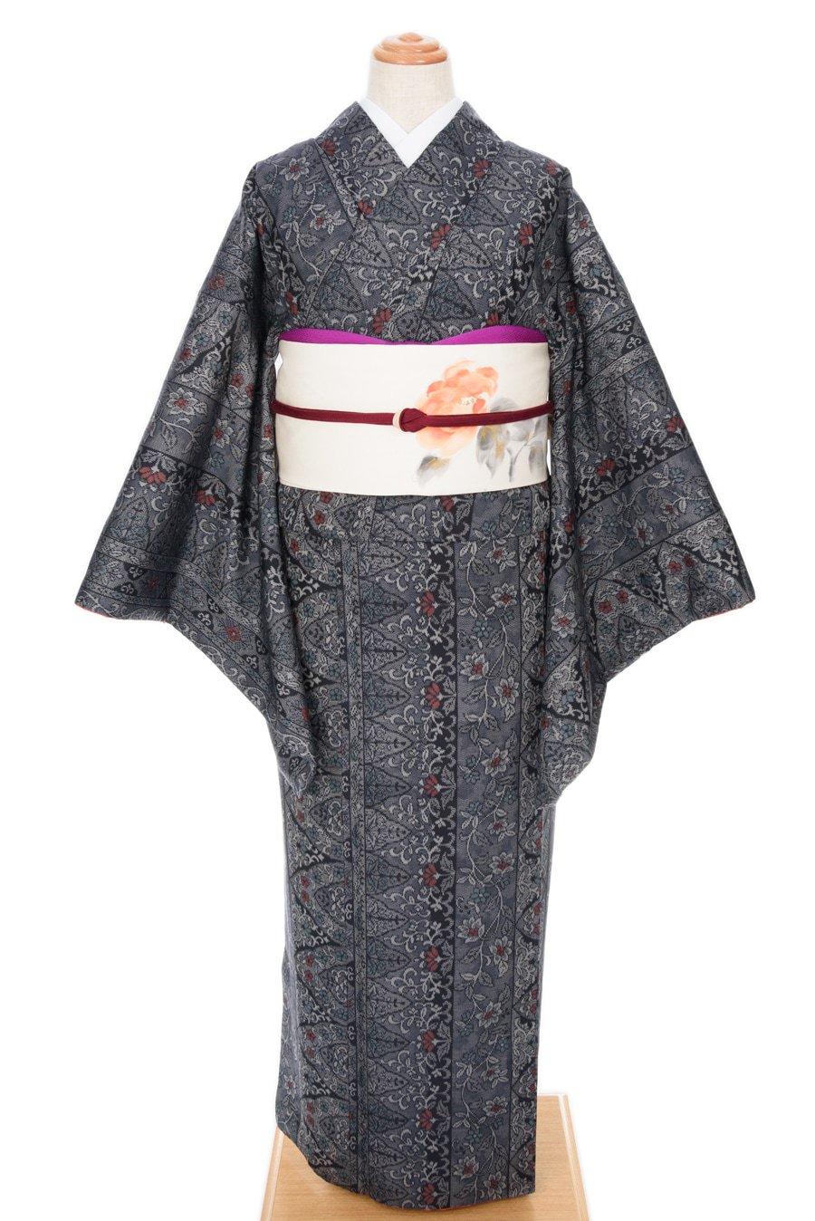 「紬 縞と花」の商品画像