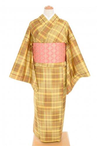 単衣●黄色ベースの格子のサムネイル画像
