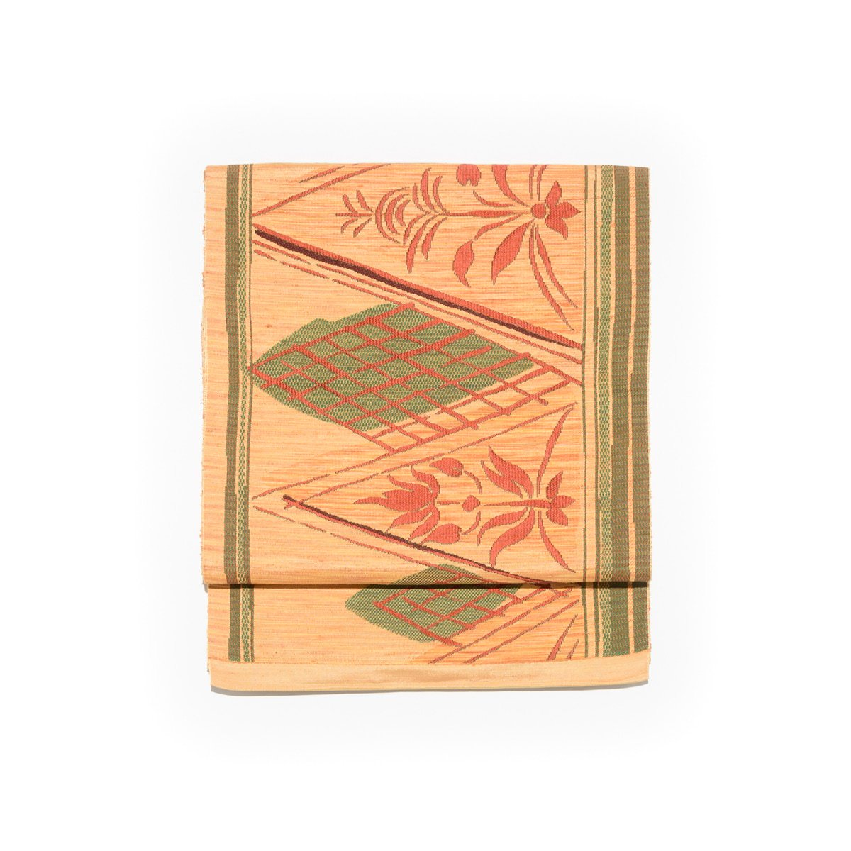 「八寸名古屋帯 三角に花」の商品画像