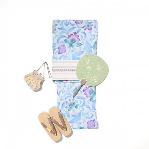 新品浴衣 グラデーションカラーの唐花のサムネイル画像