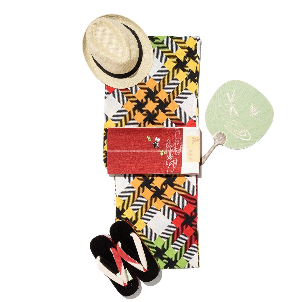 「新品浴衣 シマシマとペケ」の商品画像