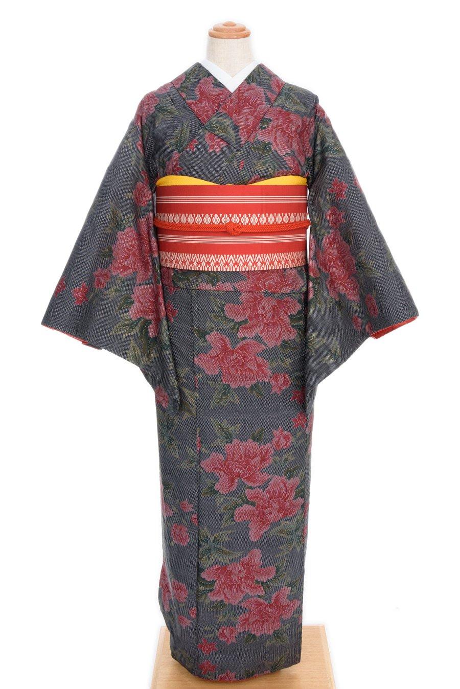 「大島紬 大輪の牡丹」の商品画像