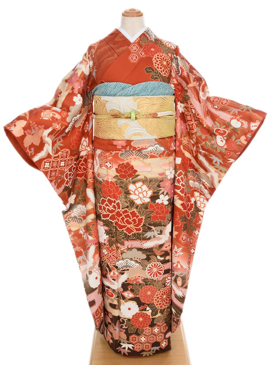 「振袖 四季の花と鶴」の商品画像