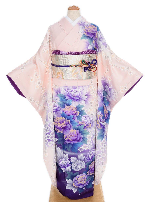「振袖 白梅と紫牡丹」の商品画像