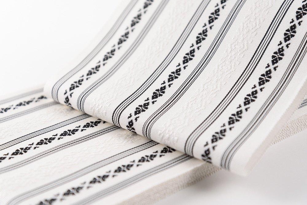 「本場筑前博多半幅帯 黒×白」の商品画像