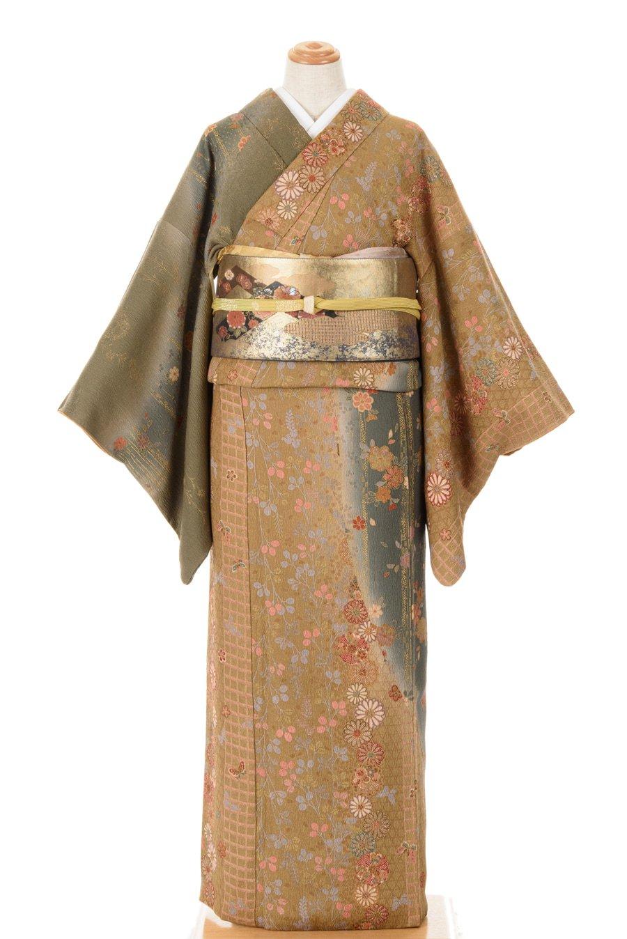 「4点セット*総柄訪問着 菊・桜・萩 スワトウ刺繍袋帯」の商品画像