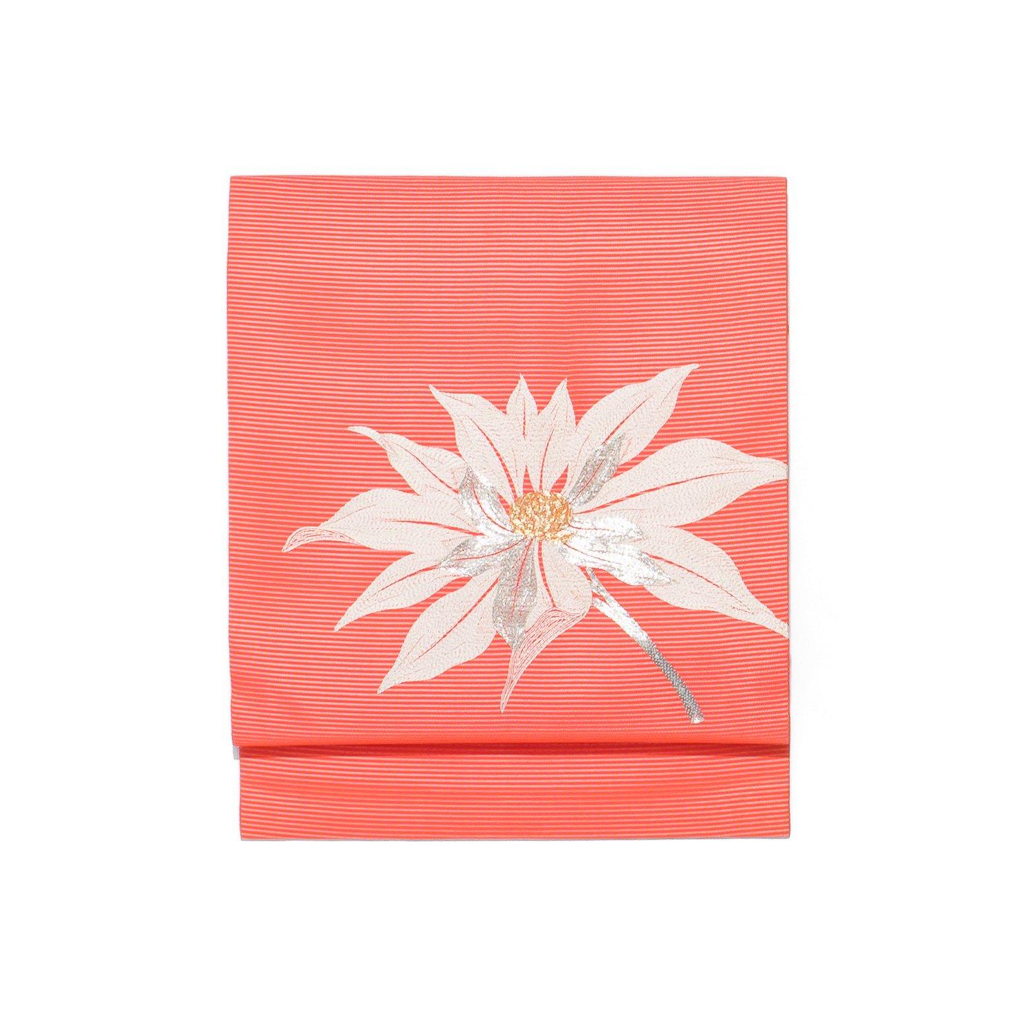 「夏帯●大きな花の刺繍」の商品画像