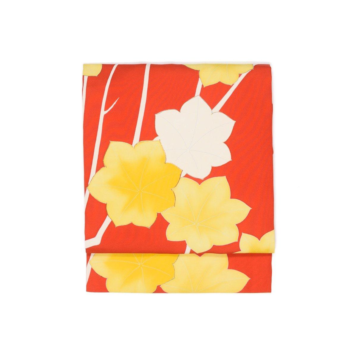 「朱色の地 大きな紅葉」の商品画像