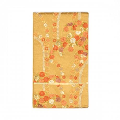 袋帯●金狐色 花の波のサムネイル画像