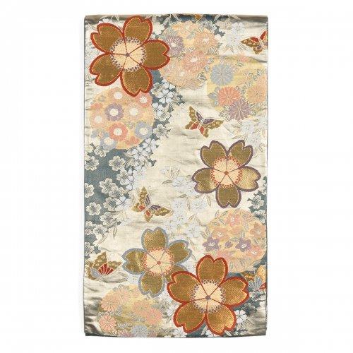 袋帯●桜と蝶々 花の丸のサムネイル画像