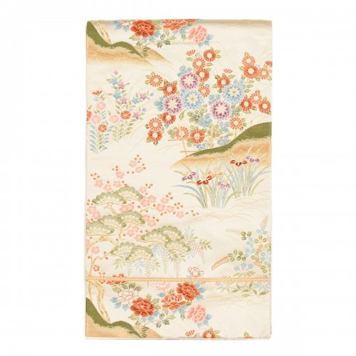 袋帯●白金地 四季の花のサムネイル画像
