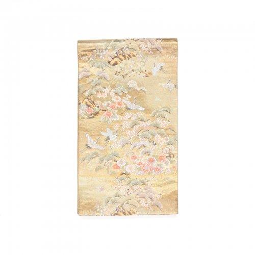 袋帯●松の木と舞う鶴のサムネイル画像
