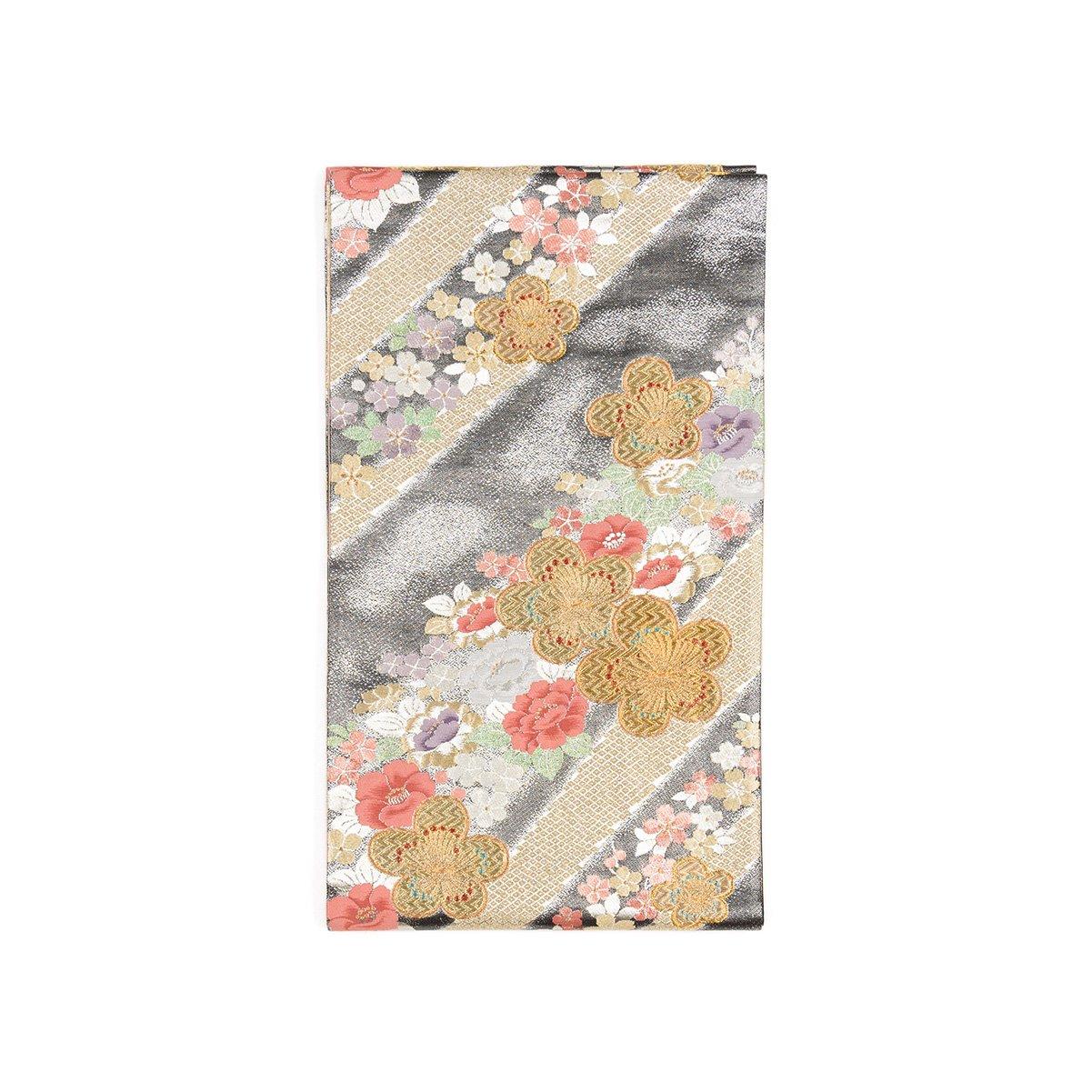 「袋帯●金の梅に桜と椿」の商品画像