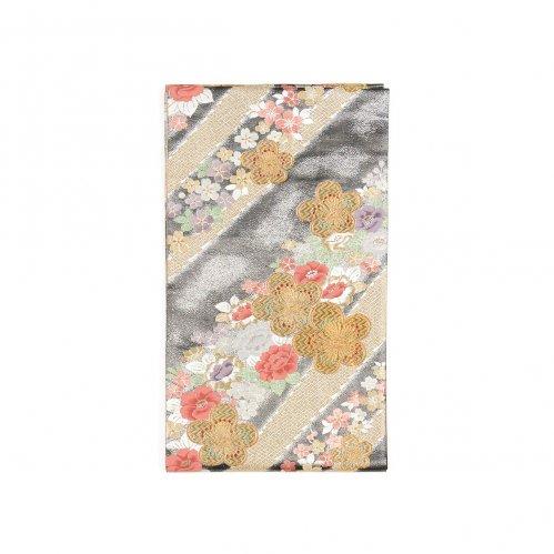 袋帯●金の梅に桜と椿のサムネイル画像