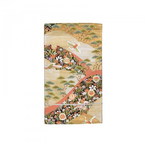 袋帯●丸に小槌や扇 空舞う鶴のサムネイル画像