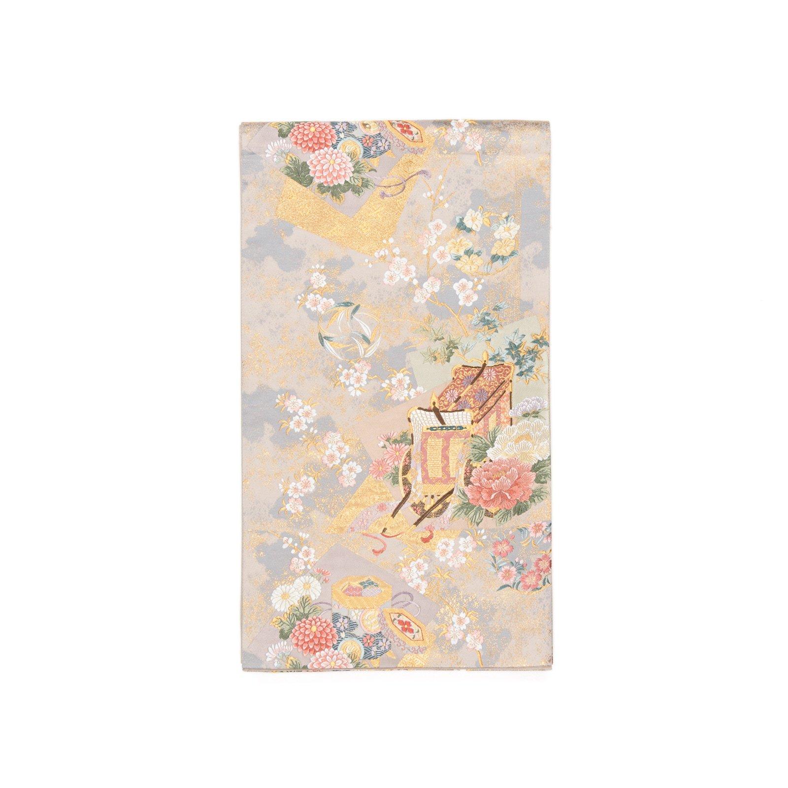 「袋帯●花と御所車」の商品画像