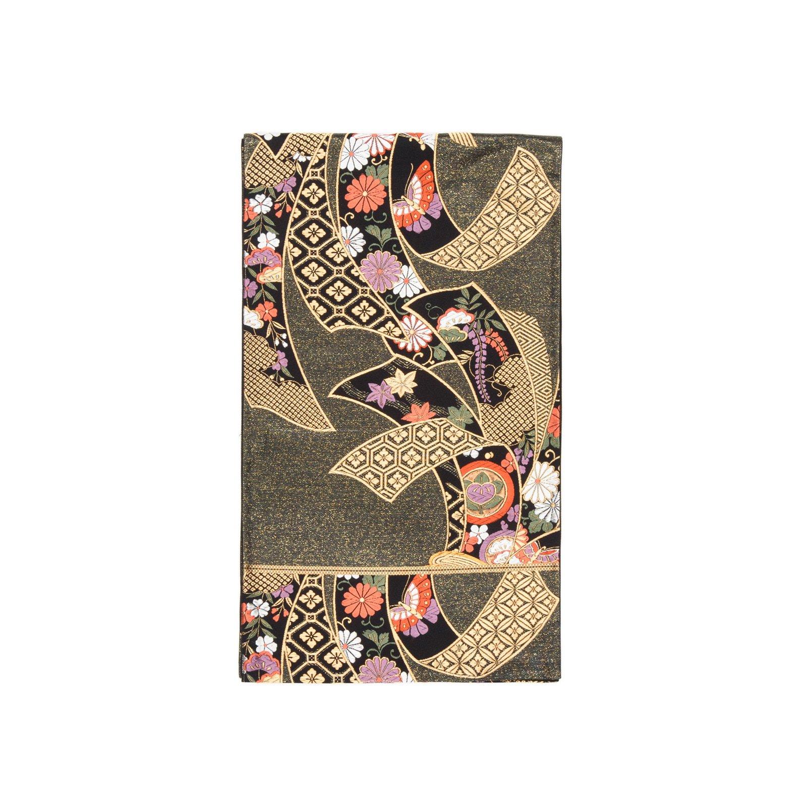 「袋帯●花丸や蝶の熨斗目」の商品画像