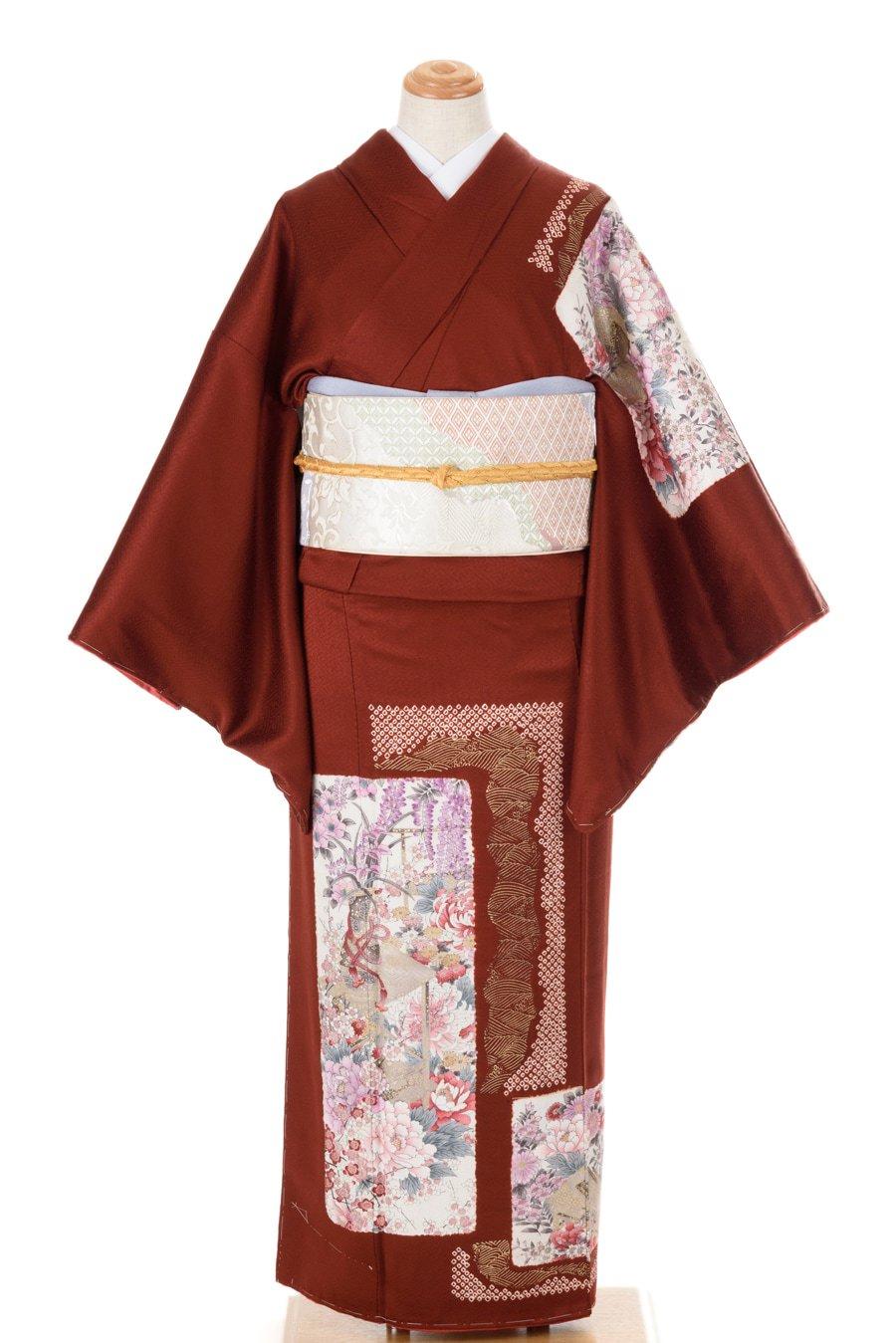 「付け下げ訪問着 牡丹・菊・藤の花など」の商品画像