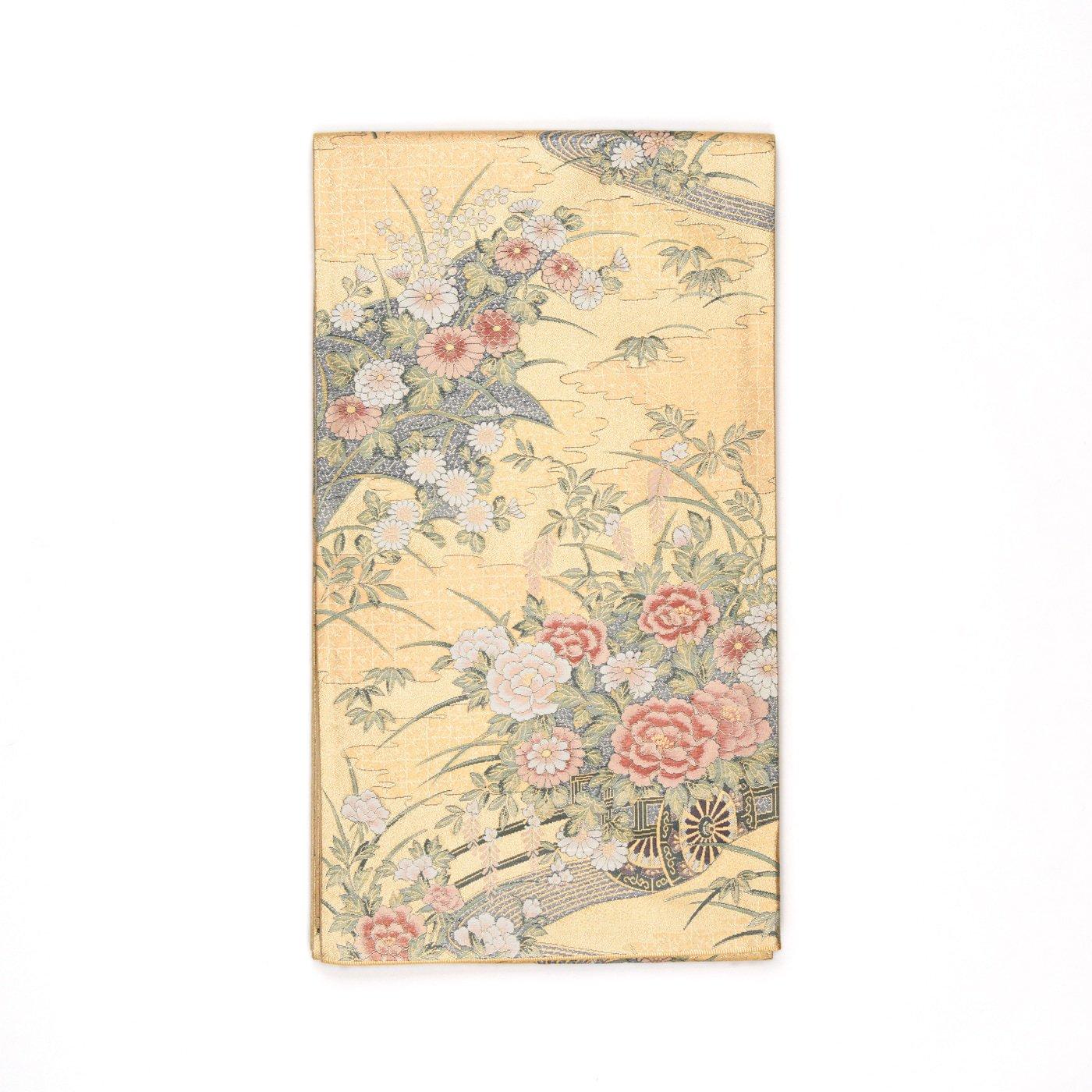 「袋帯●牡丹や菊などの花車」の商品画像