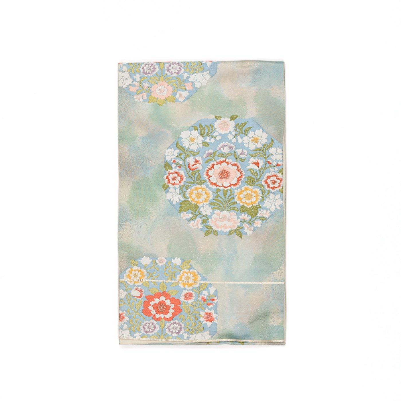 「袋帯●ふんわり咲いたお花の丸」の商品画像