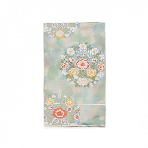 袋帯●ふんわり咲いたお花の丸のサムネイル画像