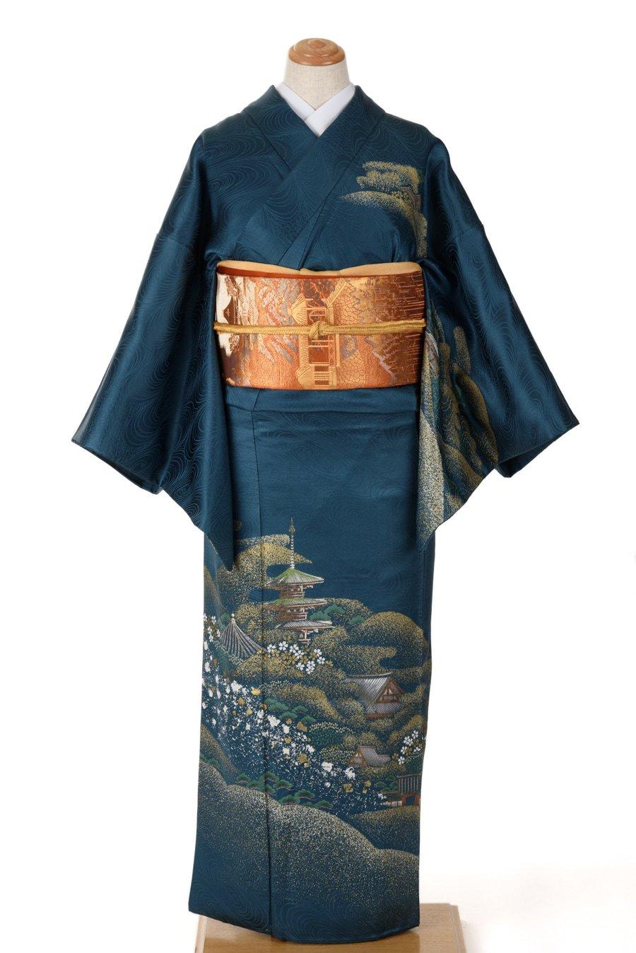 「訪問着 桜の中の塔」の商品画像