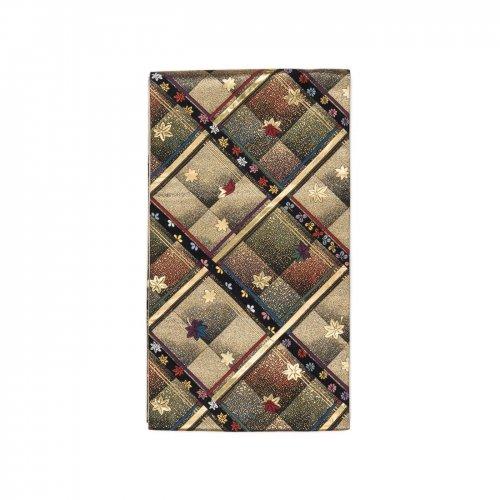 袋帯●斜め格子と紅葉のサムネイル画像