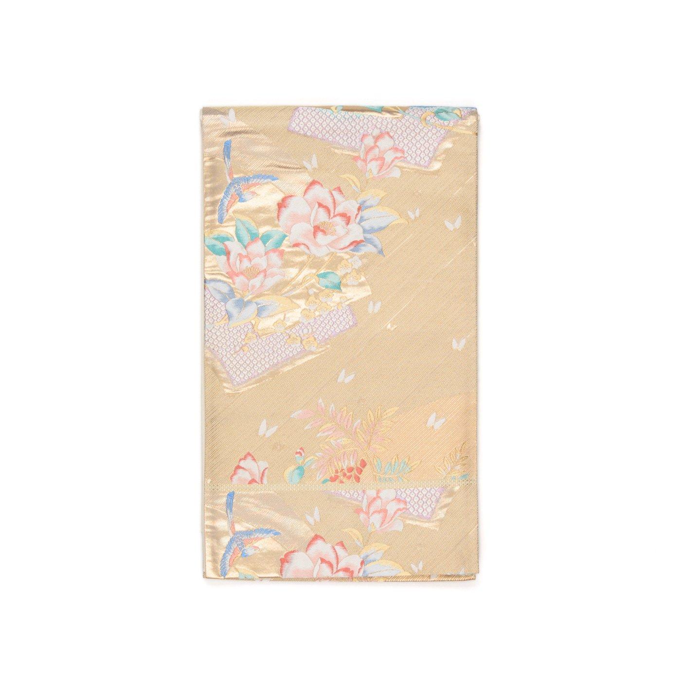 「袋帯●扇面に花と鳥」の商品画像