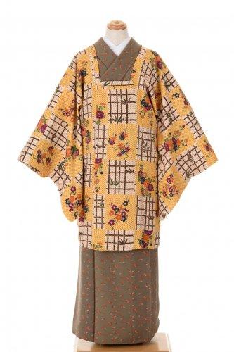 道行コート 絞り 四季の花と竹格子のサムネイル画像