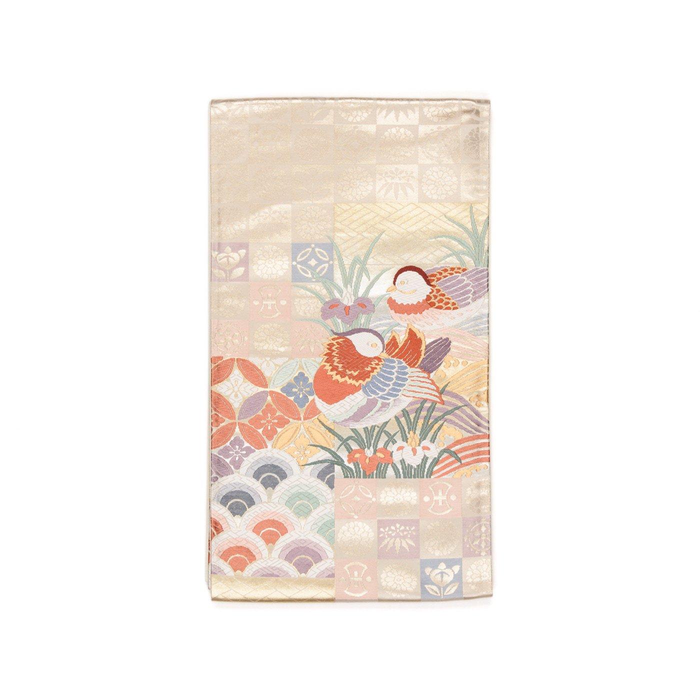 「袋帯●鴛鴦に青海波と七宝など」の商品画像
