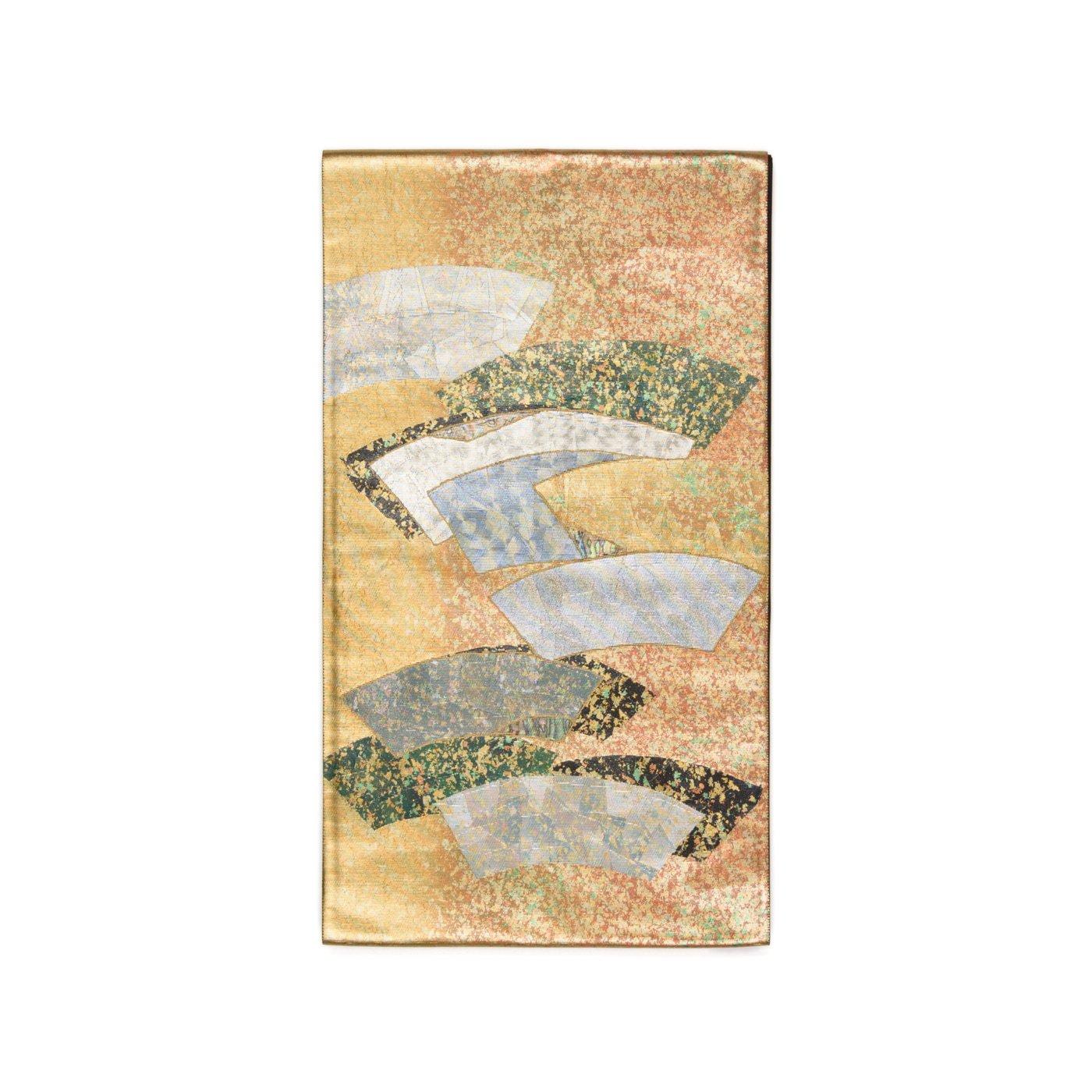 「袋帯●鏡のような銀箔の扇面」の商品画像