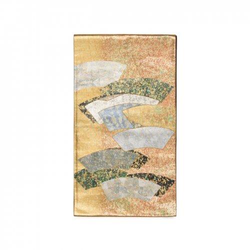 袋帯●鏡のような銀箔の扇面のサムネイル画像