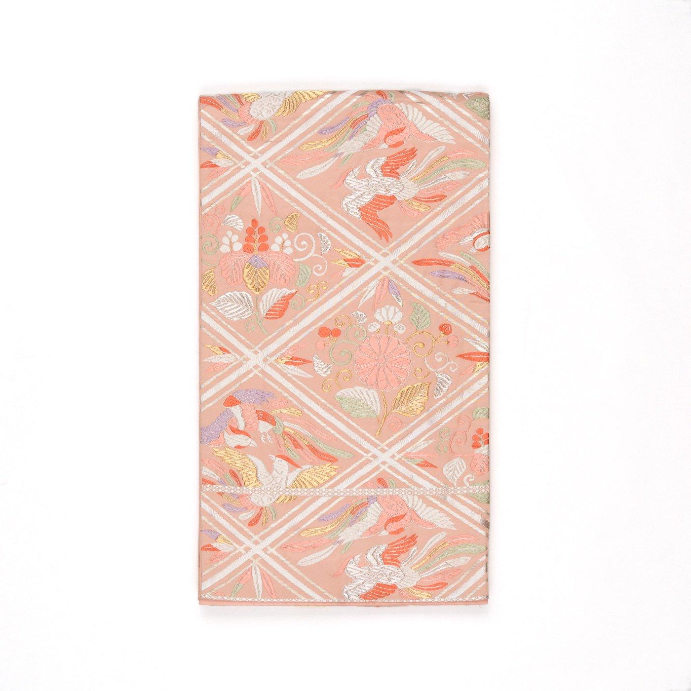 「袋帯●菱に向かい鳳凰 菊 桐など」の商品画像