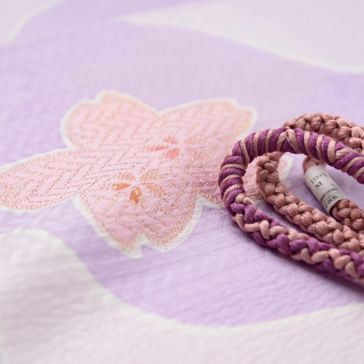 「帯揚げ帯締めセット 大小桜」の商品画像