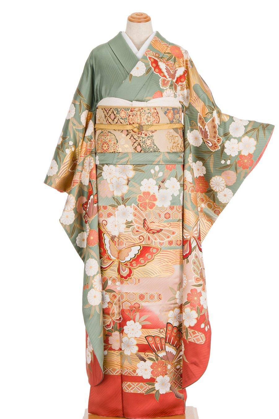 「振袖 揚羽蝶と枝垂れ桜」の商品画像