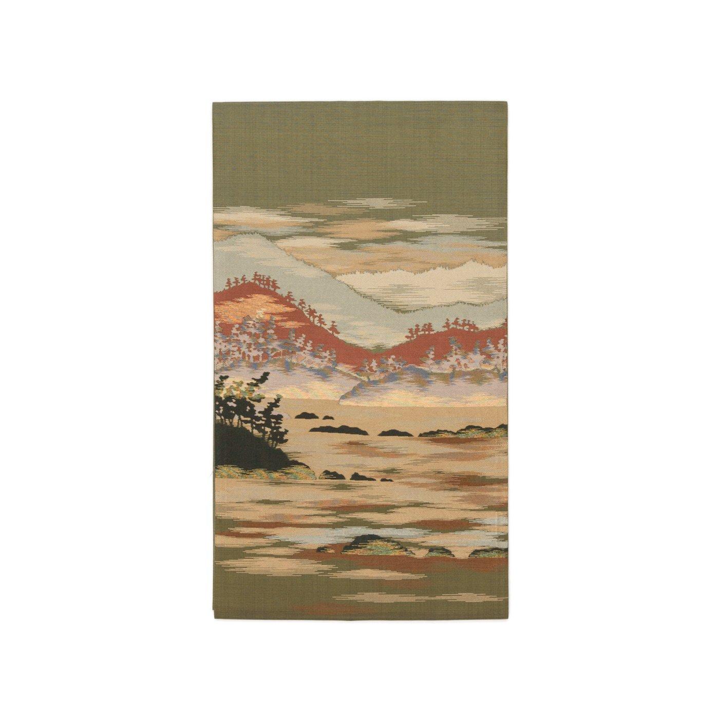 「洒落袋帯●山並みに木々」の商品画像