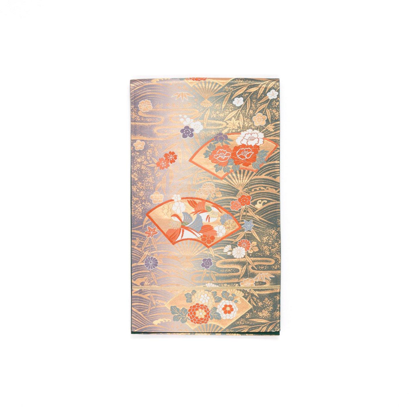 「袋帯●扇に鴛鴦や花」の商品画像