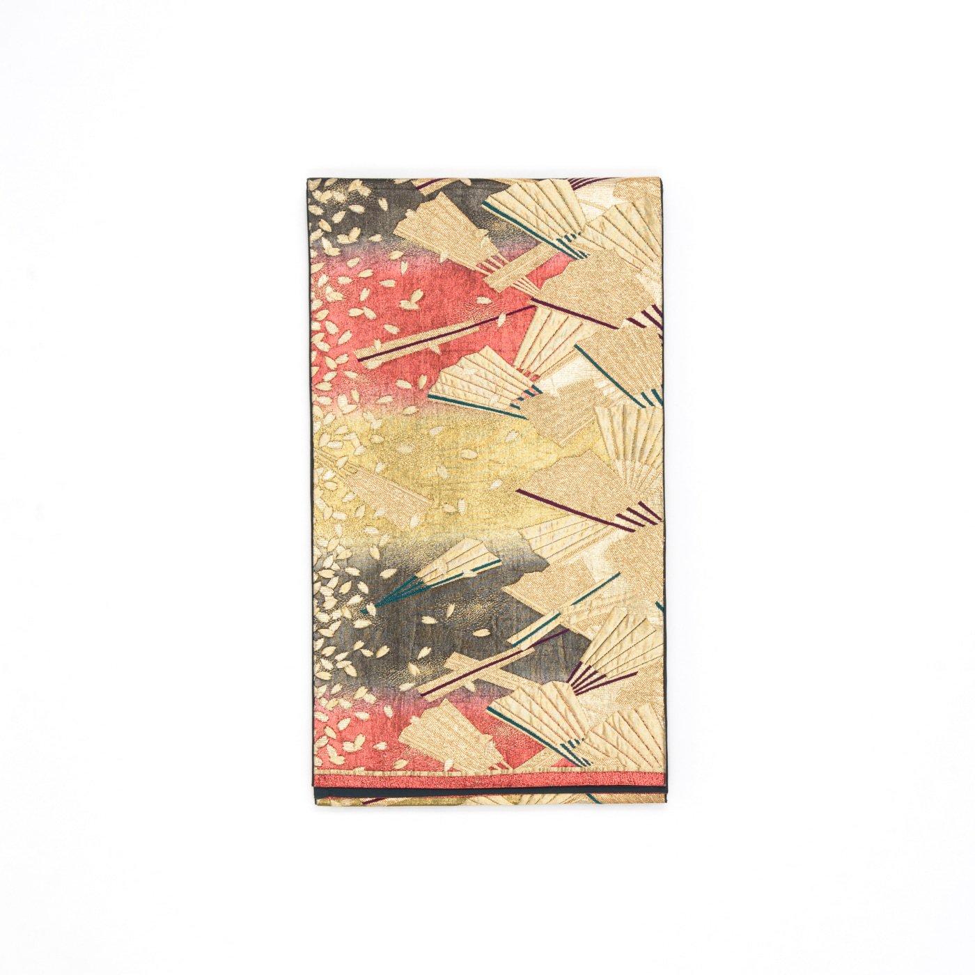「袋帯●金扇 金の花びら」の商品画像