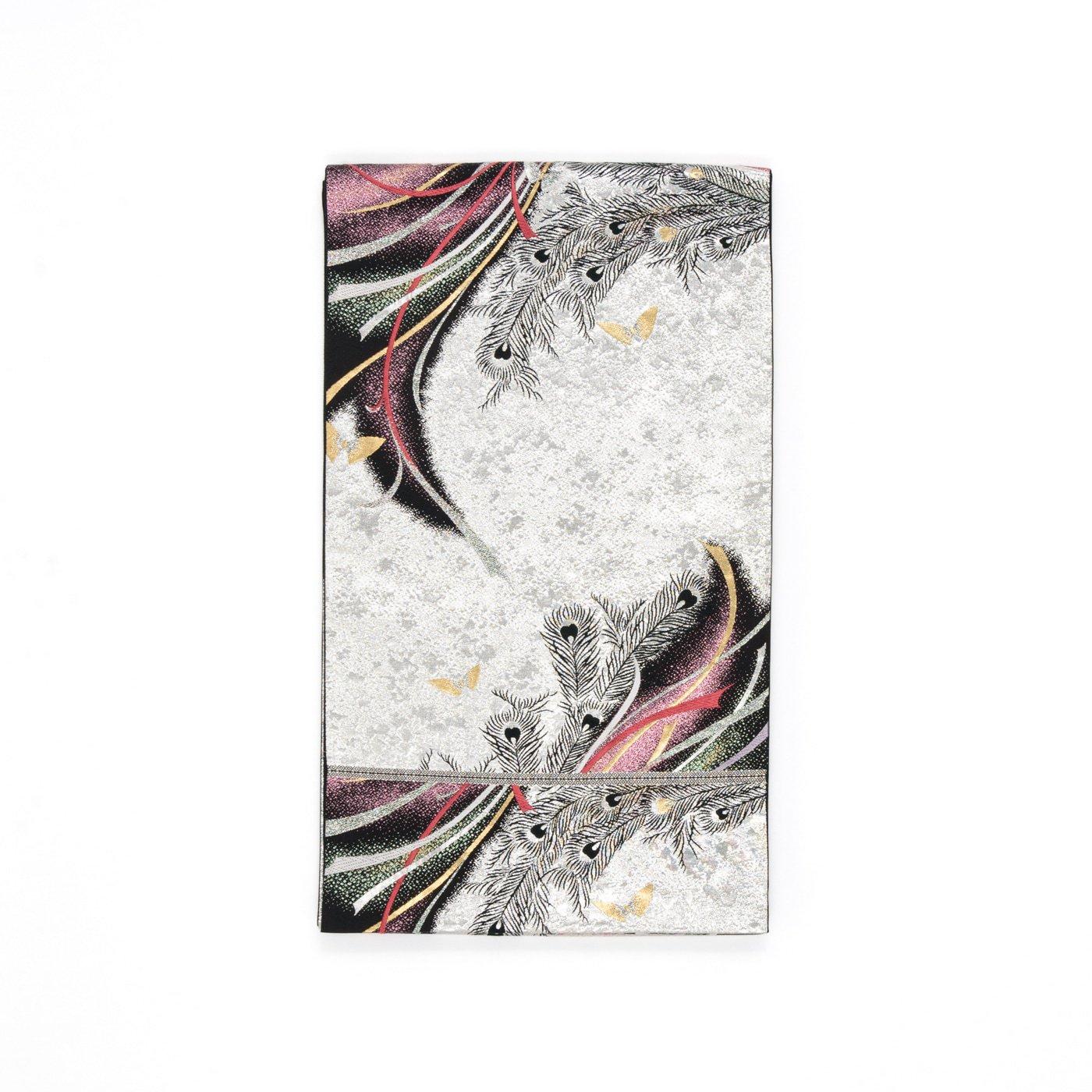 「袋帯●孔雀の羽と小さな蝶々」の商品画像