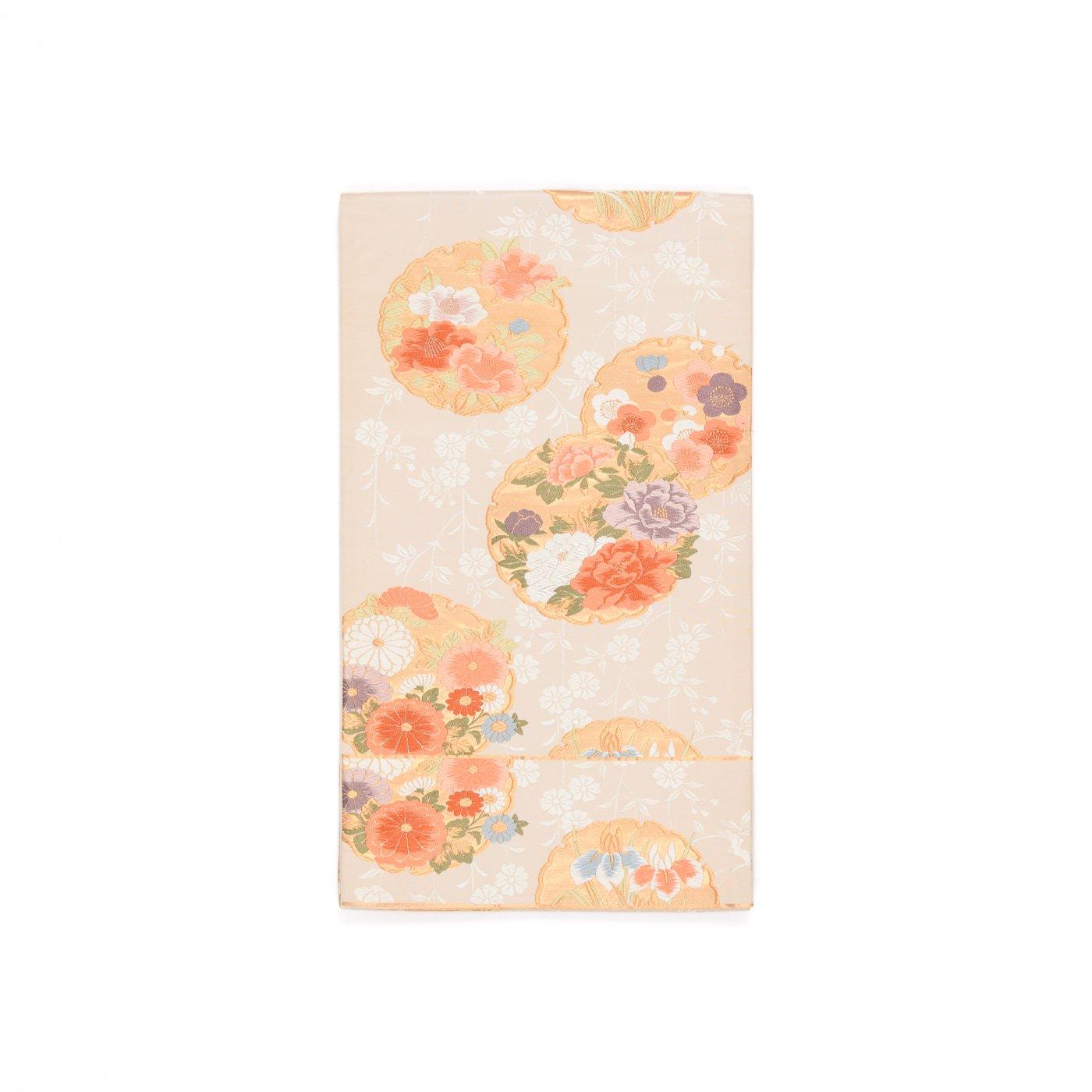 「袋帯●金の雪輪に花」の商品画像