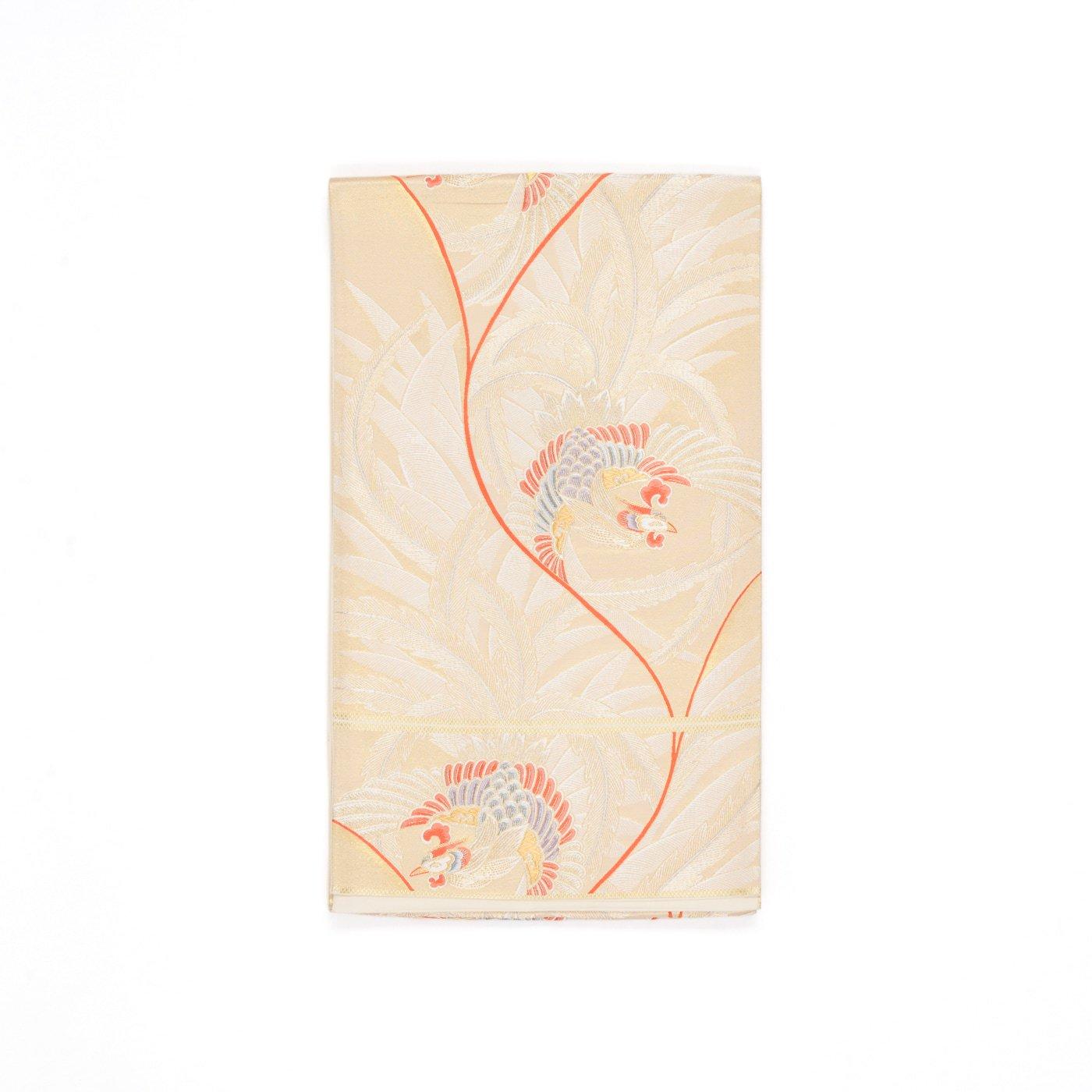 「袋帯●シャンパンゴールドに鳳凰」の商品画像