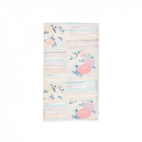 袋帯●オーロラカラーの横段と菊・牡丹のサムネイル画像