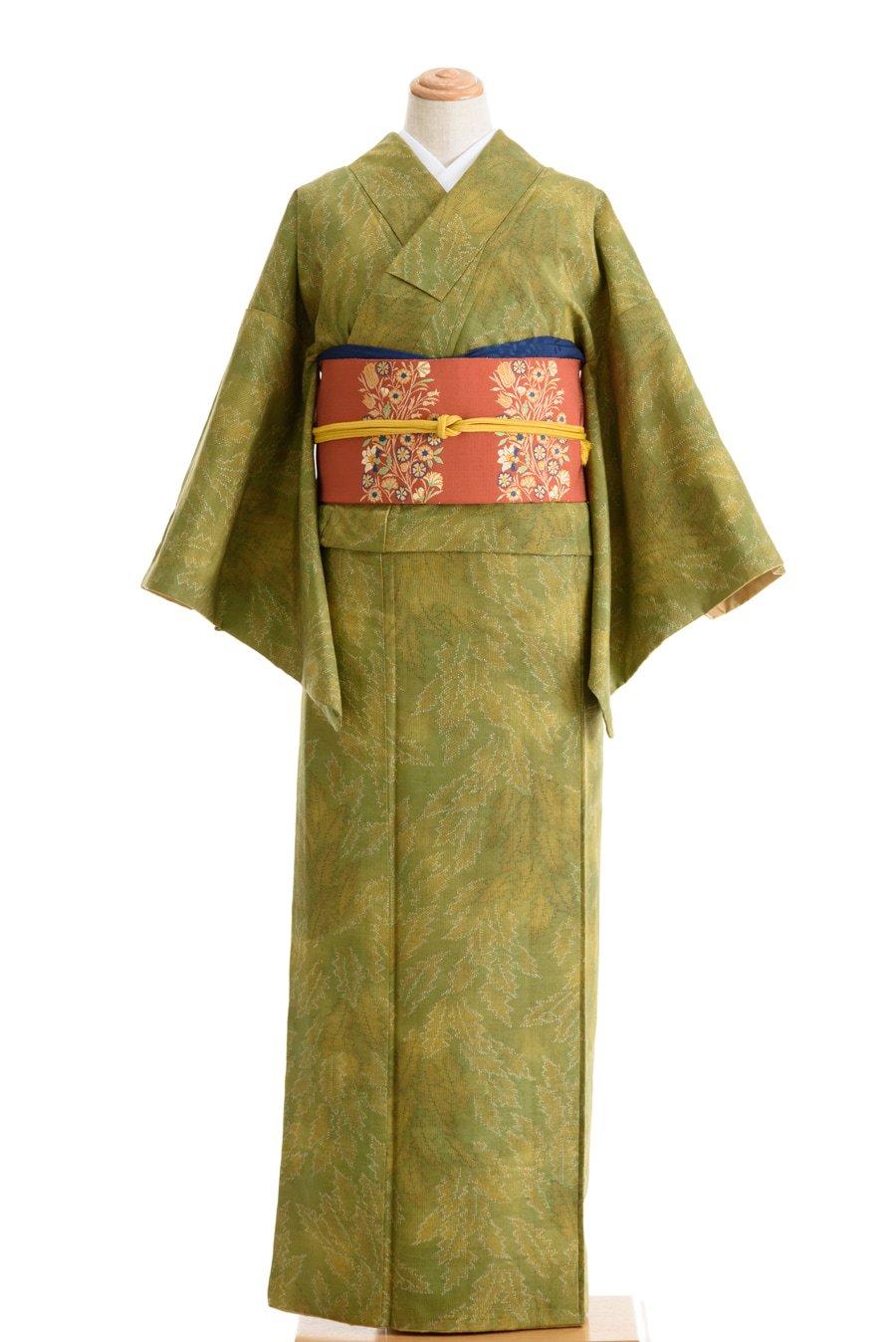 「紬 ギザギザの葉っぱ」の商品画像