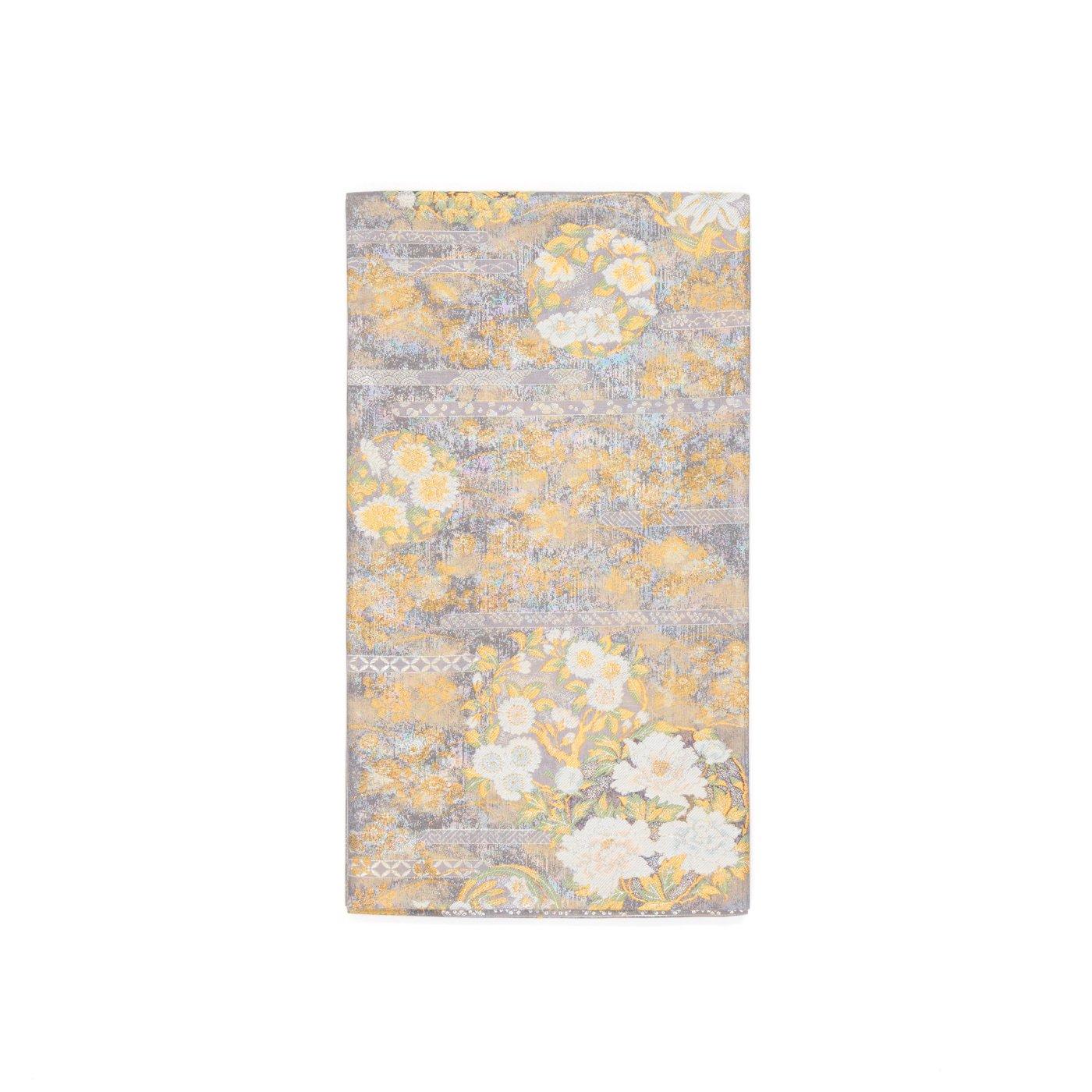 「袋帯●牡丹 百合 椿 桜などの華丸文様」の商品画像