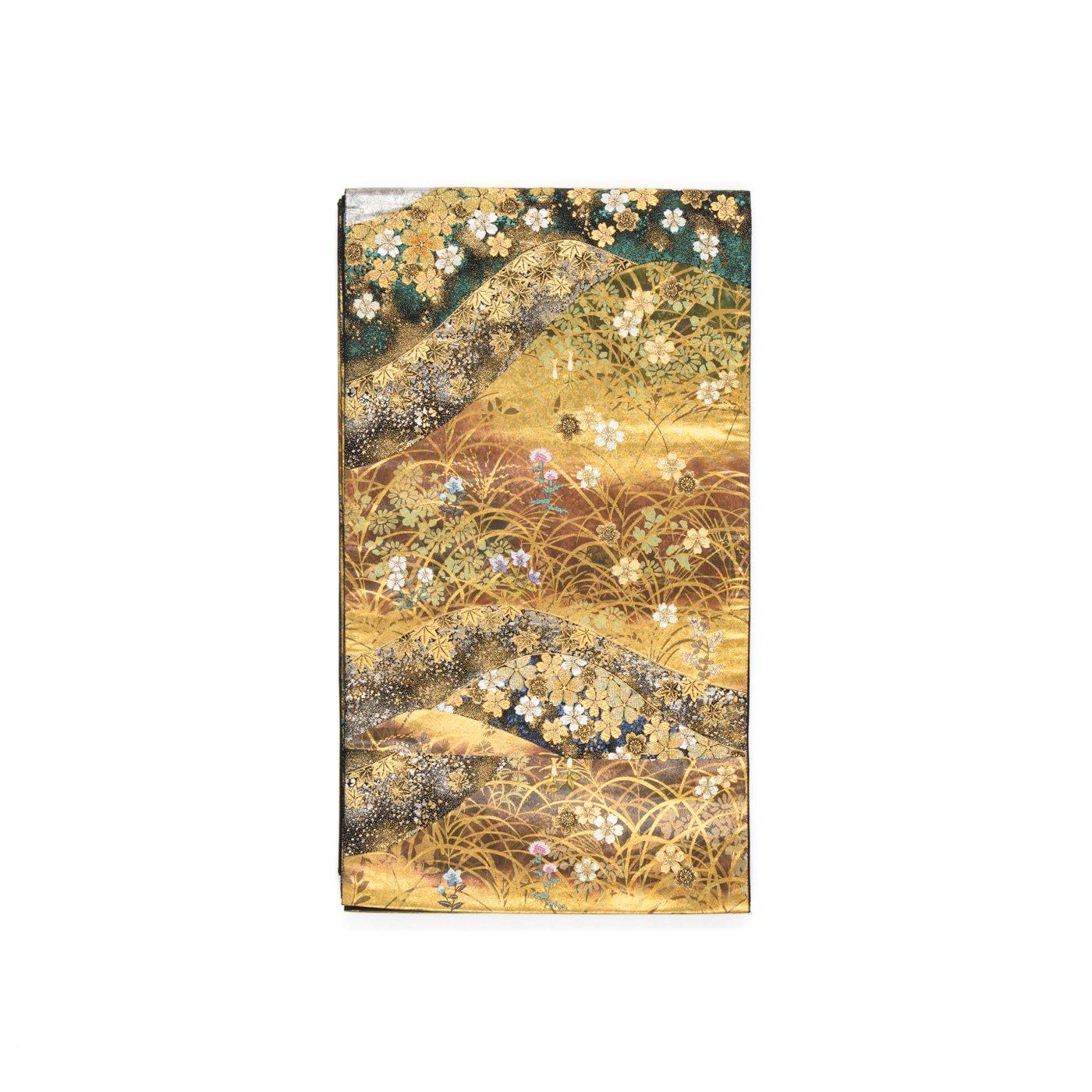 「袋帯●山並みに秋草刺繍」の商品画像