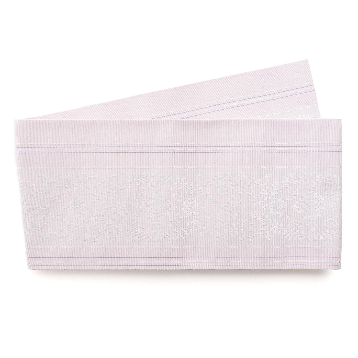 「森博多織 花紋 薄紅藤」の商品画像