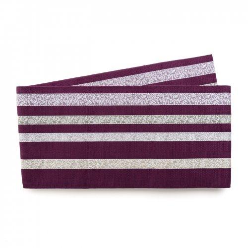 博多小袋帯 葡萄色の縞のサムネイル画像