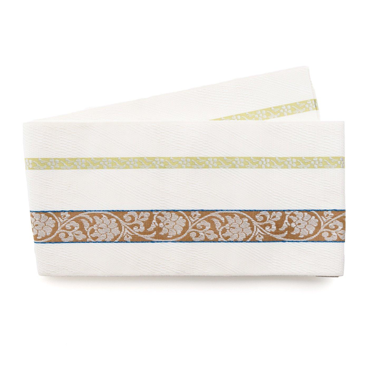 「博多小袋帯 唐花と梅鉢」の商品画像