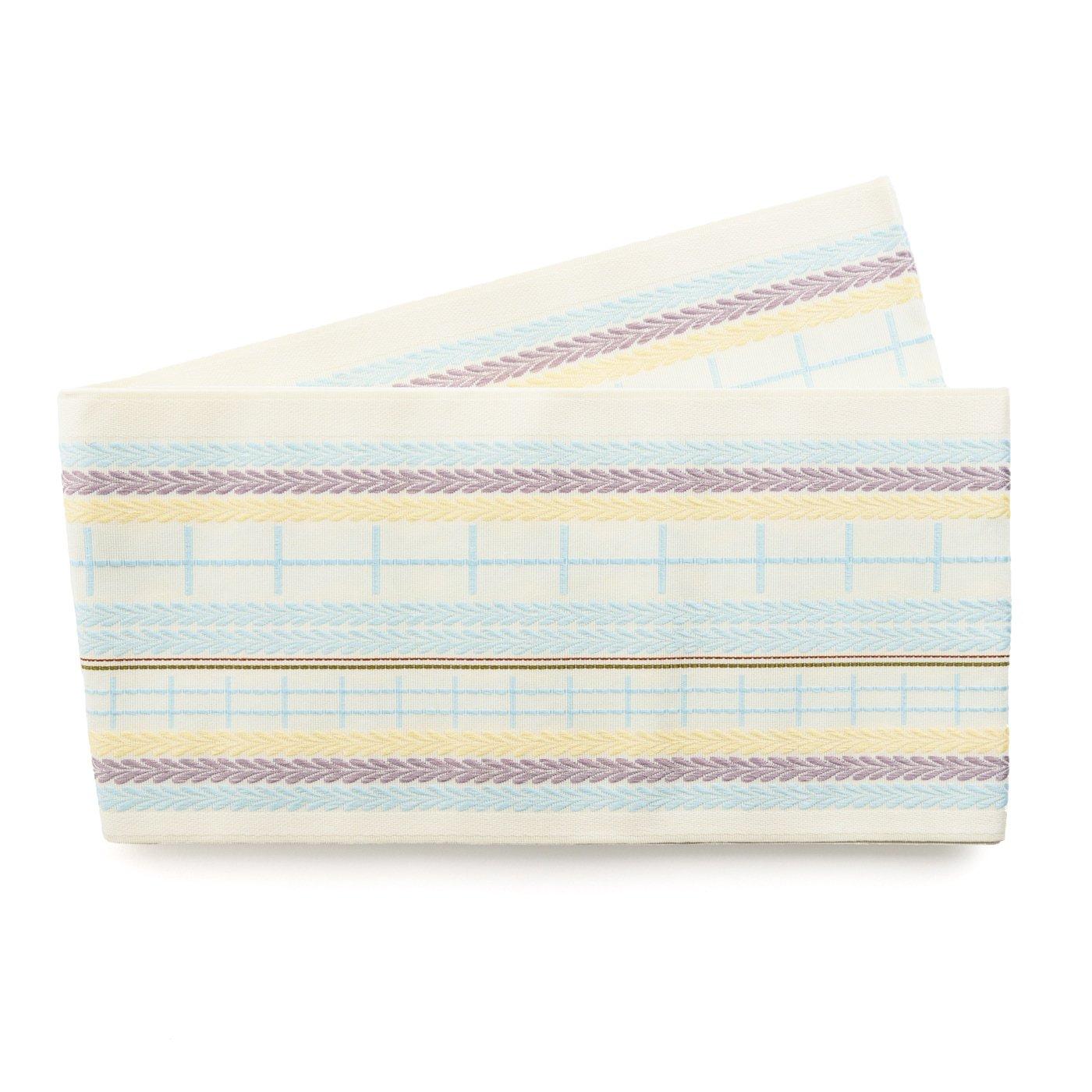 「博多小袋帯 格子の藤」の商品画像