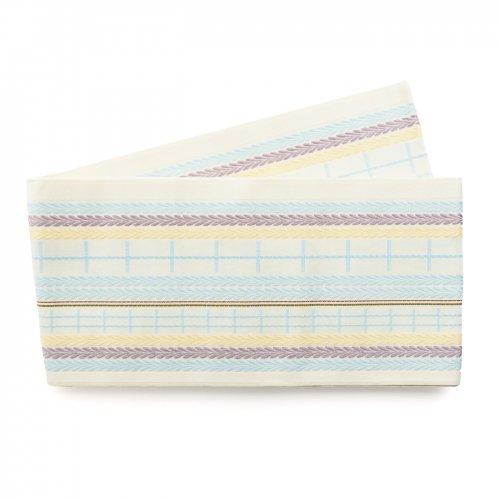 博多小袋帯 格子の藤のサムネイル画像